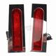 Chrome Fillerz LED Saddlebag Support Lights w/ Red Lens - GEN-FDRS-RED