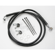 Front Extended Length Black Vinyl Braided Stainless Steel Brake Line Kit +10 in. - 1741-2555