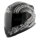 Black/Silver American Beauty SS1600 Helmet