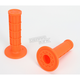 Orange Half Waffle MX Single-Ply Grips - H01RFO