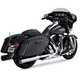 Chrome/Black Oversized 450 Titan Slip-On Mufflers - 16551