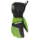 Black/Green/Silver Storm Snowmobile Gloves