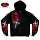 Skulls and Crosses Zip Hoody
