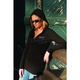 Womens Stone Cold Long Sleeve Thermal Henley w/Hood