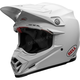 White Moto-9 Carbon Flex Helmet