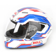 Blue/White/Red Star Spirit Helmet - Convertible To Snow