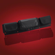 Black Tri Pouch Clear Cell Pocket - HD90-003BKC