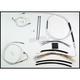 Custom Sterling Chromite II Designer Series Handlebar Installation Kit for Use w/15 in. - 17 in. Ape Hangers (w/ABS) - 387362
