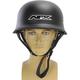 Flat Black FX-88 Half Helmet