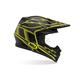 Black/Yellow Moto-9 Carbon Hurricane Helmet