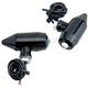 Semi-Gloss Black Vega LED Center Mount Turn Signals w/ Red Lens - 05-56-RB