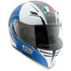 White/Blue Block Skyline Helmet