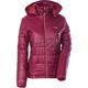 Womens Garnet Red Hooded Puffer Jacket