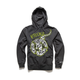 Charcoal Busted Bone Zip Fleece Hoody