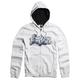 White Unruler Zip Hoody