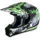 Youth Green Stunt FX-17 Helmet