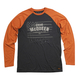 Black/Orange Americana Long Sleeve T-Shirt