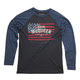 Black/Blue Americana Long Sleeve T-Shirt