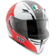 White/Red Block Skyline Helmet
