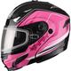 Black/Pink GM54S Terrain Modular Snowmobile Helmet