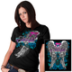 Womens Black Angel Roses T-Shirt