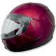 Wine Red FX-140 Modular Helmet