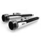 3.5 in. True Power High-Performance Chrome Mufflers W/Black Tips - LA-1593-02B