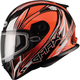 Hi-Viz Orange/White/Black FF49 Sektor Snowmobile Helmet
