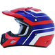Red/Blue/White FX-17 Vintage Honda Helmet