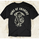 Black SOA Arched with Reaper T-Shirt