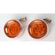 Amber Deep Dish Chrome Bezel With LEDs - 5033