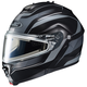 Black/Matte Silver IS-Max 2 Style Snowmobile Helmet w/Electric Shield