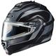 Black/Matte Silver IS-Max 2 Style Snowmobile Helmet w/Electric Shield