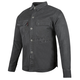 Black Last Man Standing Armored Moto Shirt