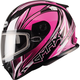 Pink/White/Black FF49 Sektor Snowmobile Helmet