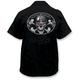Spiked Helmet Skull Embroidered Work Shirt