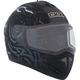 Matte Black Tranz RSV Mad Bee Modular Snow Helmet w/Electric Shield