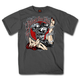 Charcoal Biker for Life Pin Up T-Shirt