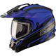 Black/Blue GM11S Trekka Snow Sport Snowmobile Helmet