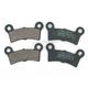 Organic Kevlar Brake Pads - 1720-0219