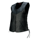 Womens Black Colt Leather Vest