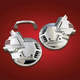 Chrome Front Tour Rotor Disc Covers - 2-497