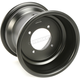 Rolled-Lip Black Spun Aluminum Wheel