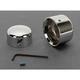 Chrome Rear Axle Caps - 0214-0449