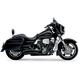 Black Swept Speedster Exhaust System w/Powerport - 6230B