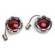 Chrome Bullet Ringz w/Red LED Turn Signals - BTRC-RR-1156-R