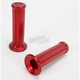 Chrome Red Scooter Grips - 717CRRD