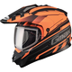 Flat Black/Hi-Viz Orange GM11S Trekka Snow Sport Snowmobile Helmet