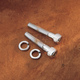 Universal Chrome Handlebar and Riser Mounting Bolts - 1/2 in.-13 x 3 in. Allen Head Bolts - 05-12432