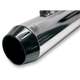 Black Powder-Coated End Cap w/1/2 in. Lip for Short Megaphone Mufflers - ENDCAP-SMB